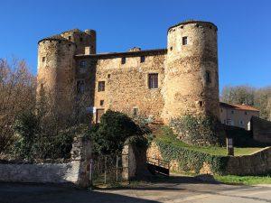 Chateau médiéval des seigneurs d'Oradour, St-Gervazy, France