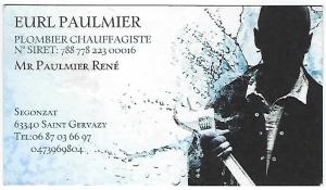 R. Paulmier, plombier chauffagiste