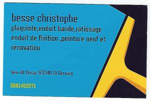 Christophe BESSE, plaquiste (63340)
